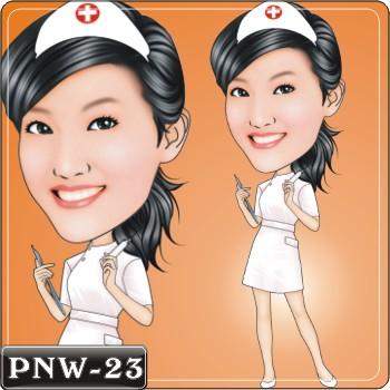 女生人像Q版漫畫PNW-23